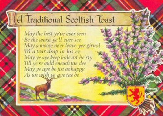 A Traditional Scottish Toast