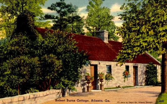 Robert Burns Cottage Atlanta Georgia