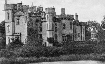 Old Photograph of Duns Castle Scotland