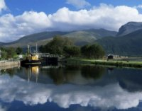 View Across Caledonian Canal Fort William Scotland