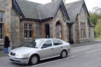 Taxi at Dunkeld Railway Station